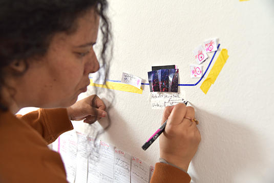 Rana ElNemr is designated Artist in Residence at LMU's Institute of Art Education. Source: Philipp Thalhammer / LMU