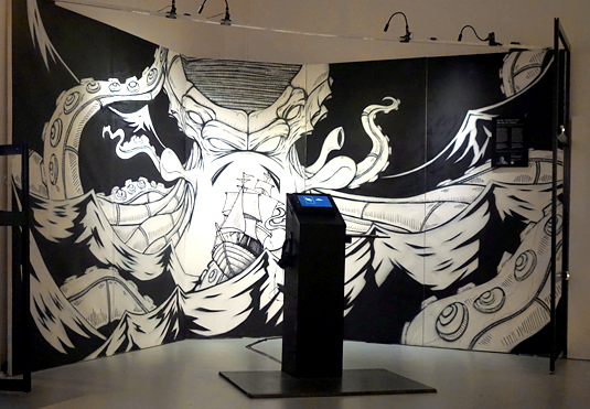 "Michel Hohendanner's version of ""The Call of Cthulhu"" can be seen at the Ars Electronica. The picture gallery show extracts from his digital comic."