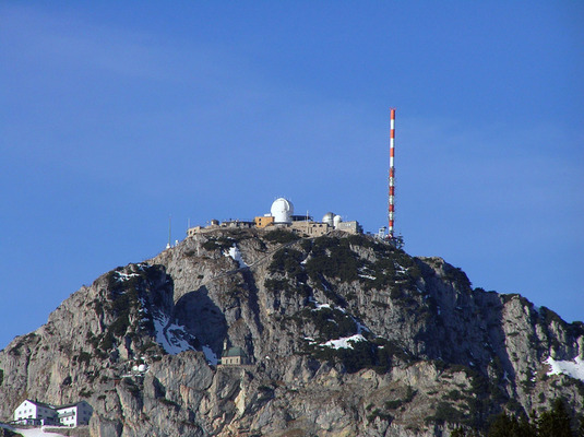 Wendelstein Observatory. The dome is home to the new 2-m Fraunhofer Telescope, installed in 2012. (Source: Christoph Ries)