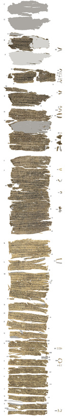 Many other manuscripts are several meters long. Single sheets of birch-bark were glued together to form scrolls of up to 5 m in length. (Fig.: S. Baums)