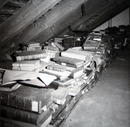 Munich University Library holdings in provisional storage in the Northeast Repository at LMU (ca. 1959). Source: Munich University Library