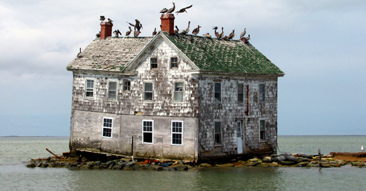 Last house on Holland Island in Chesapeake Bay (Foto: baldeaglebluff / www.flickr.com)