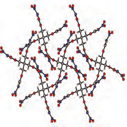 The figure depicts the crystal structure of the new compound pentaerythritol tetranitrocarbamate.