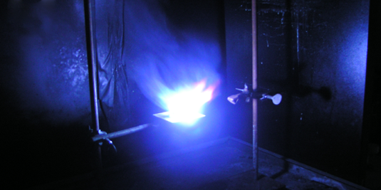 Copper bromide produces blue flames.