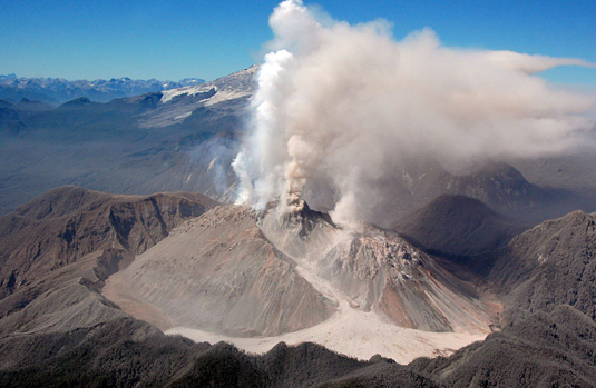 The Chaiten volcano, Chile (photo: picture alliance / dpa)