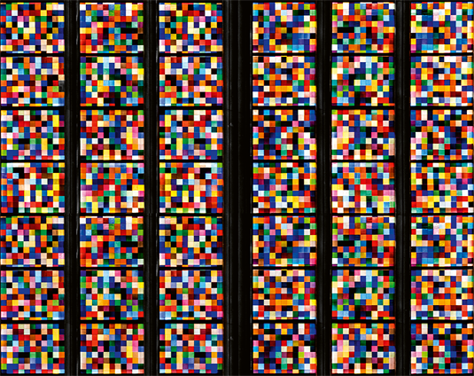 The Light in the World: Gerhard Richter's stained glass window created for the south transept of Cologne Cathedral in 2007. Capture: Dombauhütte Köln, J. Rumbach / Köln, Gerhard Richter