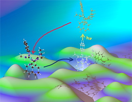 Entatic state model complexes optimize the energies of starting and final configuration to enable fast reaction rates (illustrated by the hilly ground). The scientists demonstrate that the entatic state principle can be used to tune the photochemistry of copper complexes. Credit: RWTH Aachen, Sonja Herres-Pawlis