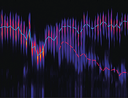 Electron spectra depending on accelerator setting. Left: tuned to single bunch operation, Right: tuned to dual bunch operation while changing the energy of second bunch. Picture: Johannes Wenz, LMU