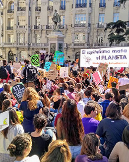 """Fridays for Future"" in Madrid. Source: Andreas Jünger"