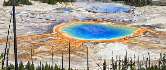 The first RNA molecules, the precursors of life, may have emerged on geothermal fields on early Earth such as those in Yellowstone National Park. Photo: