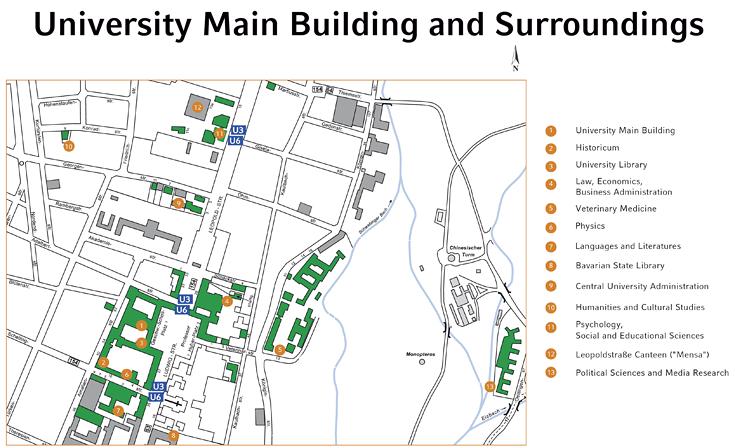 Loyola Law School Campus Map.Lmu Locations In Munich Lmu Munich