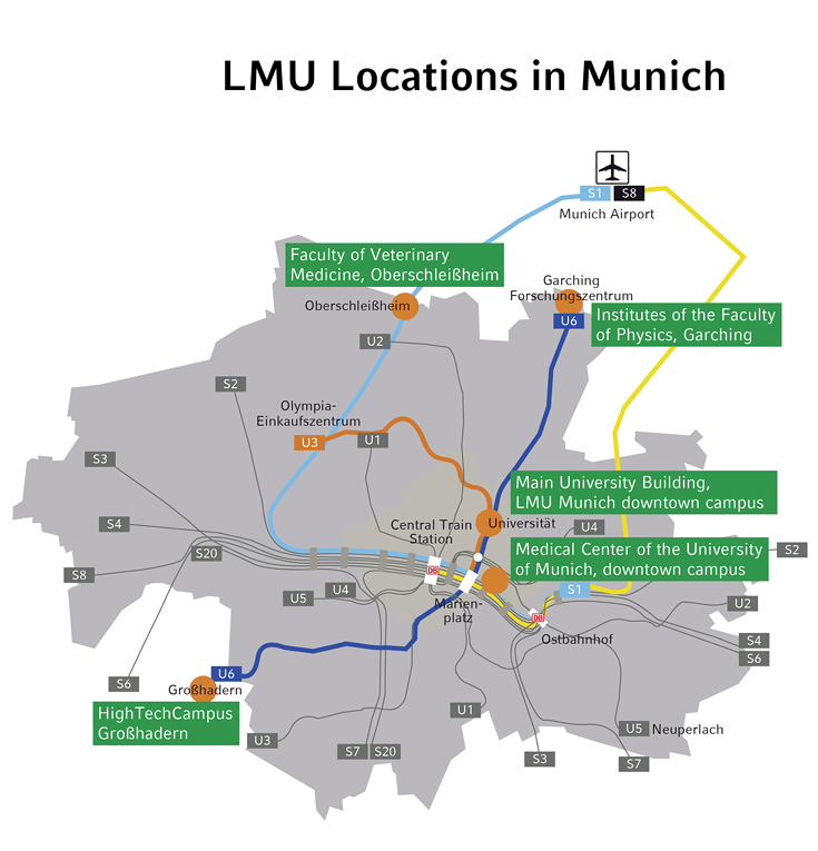 Lmu Locations In Munich Lmu Munich